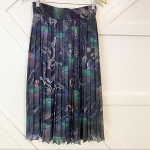 Timo Weiland Lily Printed Pleated Skirt Sz 6